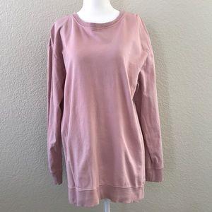 Zara Oversized Dusty Rose Sweatshirt